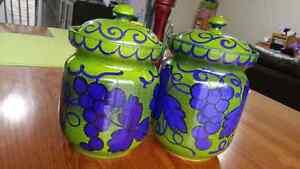 Italian handmade vintage jars Kitchener / Waterloo Kitchener Area image 1