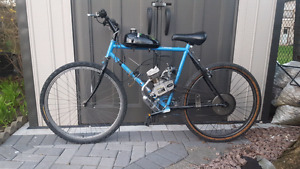 Motorized Bicycle just broken in, 66cc + spare parts