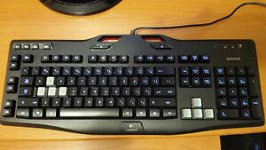 Logitech G105 gaming backlit keyboard