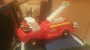 Vintage Little Tykes Firetruck complete with fireman and Dog