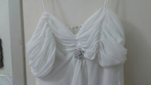 brides maid or wedding gown off white simple and elegant