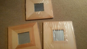 NEW ***    IKEA framed mirrors.  All 3 for $10