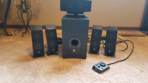 Logitech x-540 surround sound computer speakers, OPEN TO OFFERS
