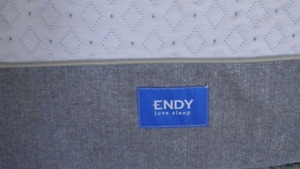 Endy mattress plus boxspring and frame