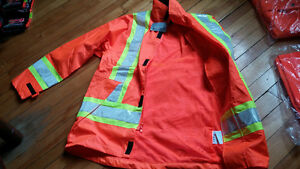 3m hi vis reflective rain coat size small