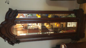 Solid fruit wood German made Curio Cabinet