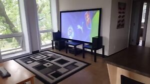 "New 92"" Locus 4K 3D TV-Projector+Screen+Speakers+300 channels"