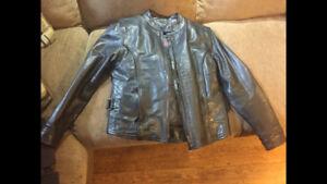 Ladies Real Leather Motorcycle Jacket