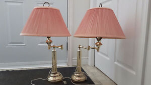 Set of 2 Dusty Rose Table Lamps