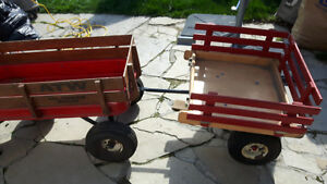 Metal wagon   and attachable trailer
