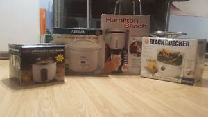 RICE COOKER, SINGLE CUP COFFEE BREWER