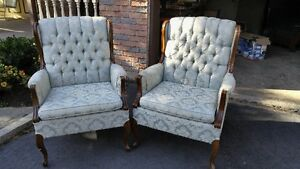 2 Beautiful & Comforable Winged Back Chairs asking $135.00 each Cambridge Kitchener Area image 1