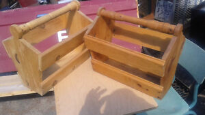 2 wooden magazine racks
