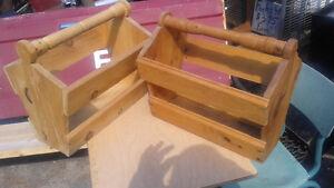 2 wooden magazine racks