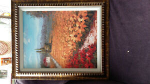 Rustic Italian Countryside picture with frame
