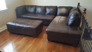 Large Sectional Sofa with Ottoman