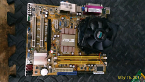 Laptop motherboard and 2 psu