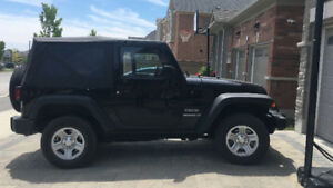 OEM Soft Top for 2 Door Jeep + Hardware, Tinted Windows, & Frame