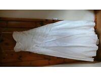 Size 12/14 ivory satin wedding dress