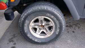 265/75/15 tires and rims.