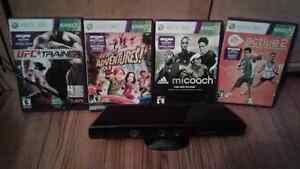 Kinect with 1 game and 3 exercise games