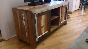 Console made of solid, reclaimed mango wood - multi-use
