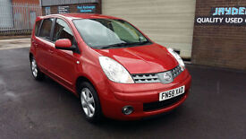 2008 58 NISSAN NOTE 1.4 16V ACENTA 5DR ,ONLY 1 PREVIOUS OWNER FROM NEW.