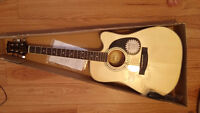 Mitchell Acoustic/Electric Cut-Away Guitar with Korg Aw-2G Tuner