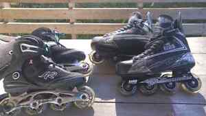 His and hers roller blades