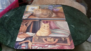 2 CAT PLACEMATS WITH CORK BACKING $5 FOR BOTH
