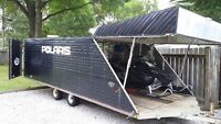 1997 BEARCAT SNOWMOBILE TRAILER 4 PLACE ENCLOSED