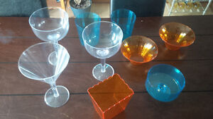large coloured plastic dishes