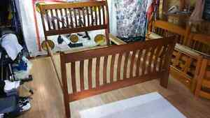 Queen Bedroom set (bed, and 2 side tables)  Peterborough Peterborough Area image 1