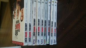 The Big Bang Theory 1-9 DVD's