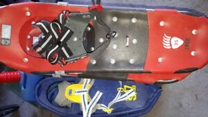 3 pairs of snow shoes, 1 child pair 2 adults pairs. EUC.