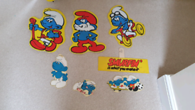 Smurfs shop display Cardboard cut out hanging advertising signs smurf
