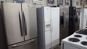 Side by Side Fridges - with Warranty - Used Sale!