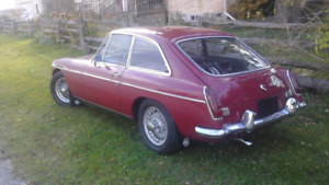 Stunningly Beautiful 1969  MGB  GT NOW