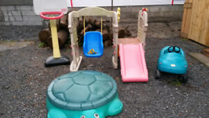 Little Tikes: Car, Sandbox, Swing/Slide, Basketball Net, Buggy