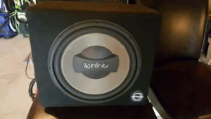 Infinity sub in box with Exile 1000Watt amp