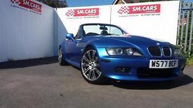 2000 W BMW Z3 2.0 6 CYLINDER ROADSTER IN ESTORIL BLUE,M3 WHEELS.LOW MILEAGE .
