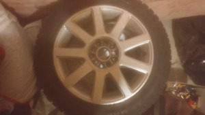 Winter tires with alloy rims with vw bottom pattern