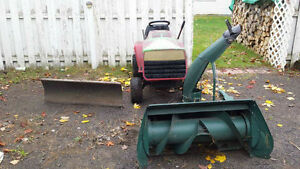 lawnmower , plow blade and snowblower