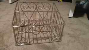 Metal Storage Basket Kitchener / Waterloo Kitchener Area image 1