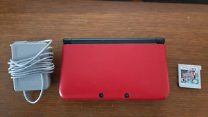 Nintendo 3DS XL (Red) with charger with 2 games for sale!