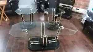 Beautiful 3pc glass coffee table set  Cambridge Kitchener Area image 4