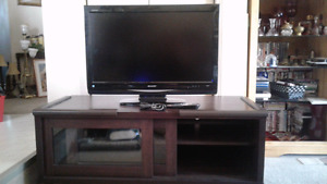 Tv and stand 350$