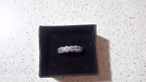 Sterling Silver & tanzanite ring size 9