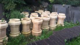 700 NEW half price bargain octagon chimney pots