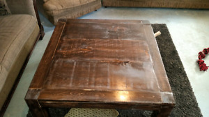 Large homemade coffee table.